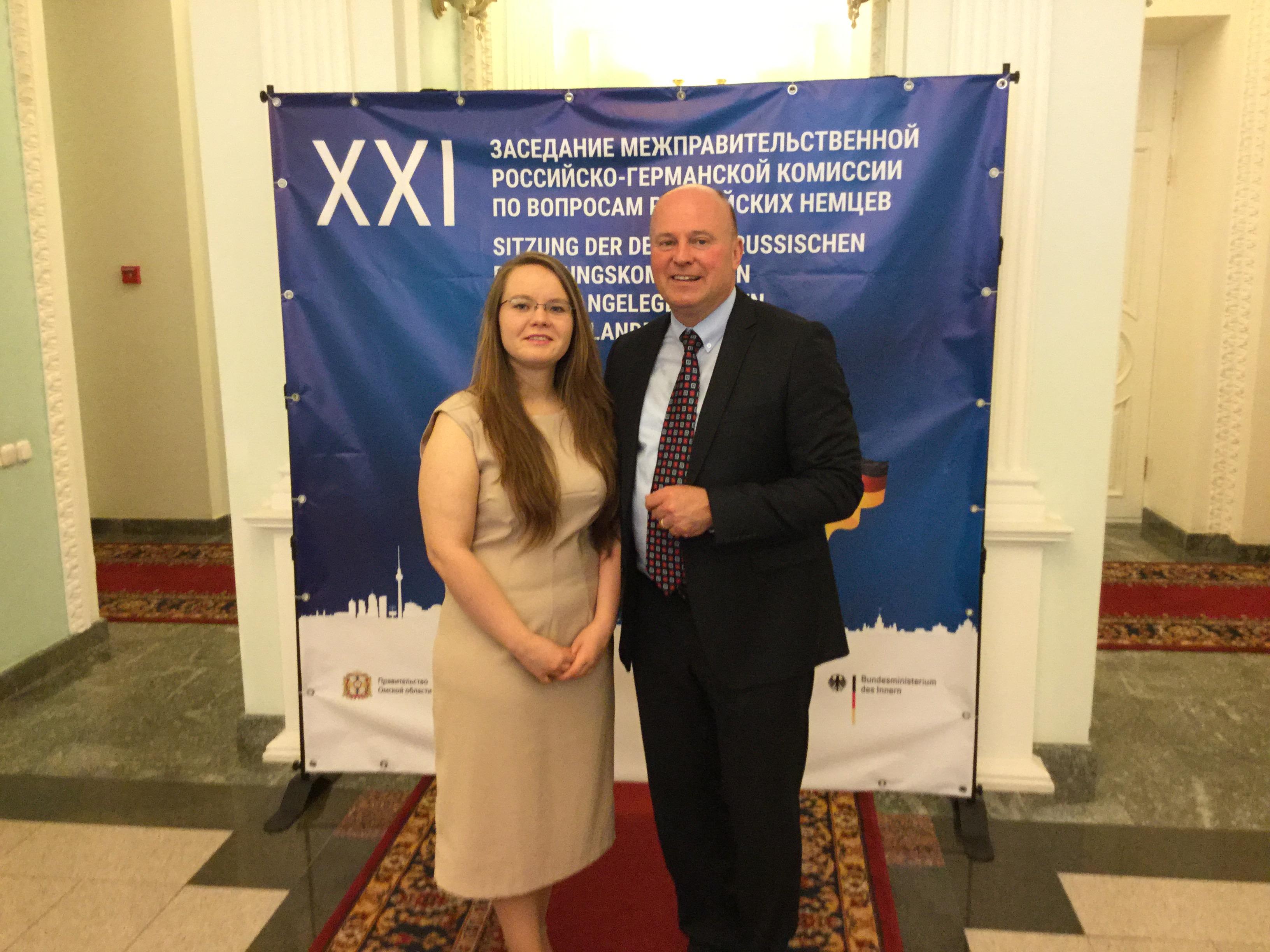 Bei der Deutsch-Russischen Regierungskommission für die Angelegenheiten der Russlanddeutschen unter Vorsitz des Beauftragten der Bundesregierung für Aussiedlerfragen und nationale Minderheiten, Herrn Hartmut Koschyk, MdB.