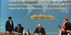 15.Sitzung der Deutsch-Kasachischen Regierungskommission Unterzeichnung