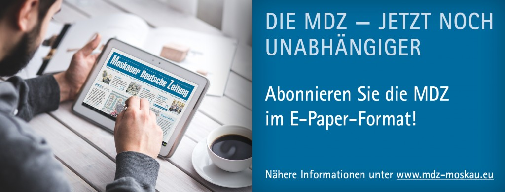Moskauer Deutsche Zeitung – immer gut informiert.